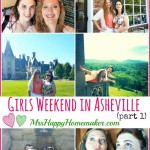 Asheville North Carolina is such a perfect place to plan a trip to! Here's part 1 of my recap from a recent girls' weekend in Asheville. We had so much fun! | MrsHappyHomemaker.com