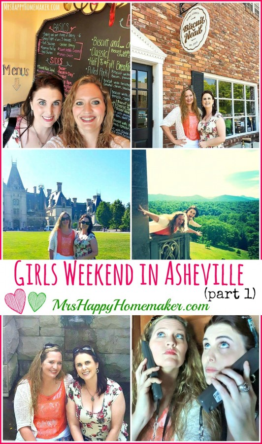 Asheville North Carolina is such a perfect place to plan a trip to! Here's part 1 of my recap from a recent girls' weekend in Asheville. We had so much fun!