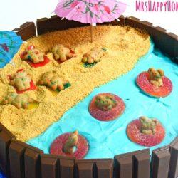Beach Scene Kit Kat Cake