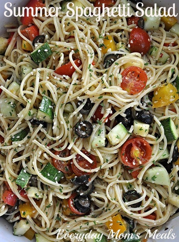 Fresh and Delicious Summer Spaghetti Salad!