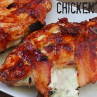 BBQ Bacon Cheese Stuffed Chicken