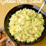 Finished Golden Rice Salad