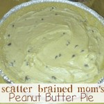 Scatter Brained Mom Peanut Butter Pie