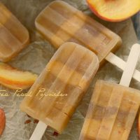 Sweet Tea Peach Popsicles
