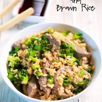 Broccoli Beef and Brown Rice