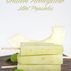 Golden Honeydew Mint Popsicles