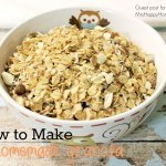How to Make Homemade Granola ~Guest Post~