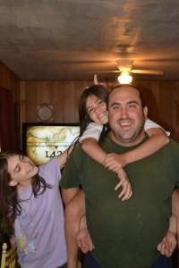 Mrs Happy Homemaker husband Michael Faulkner and kids