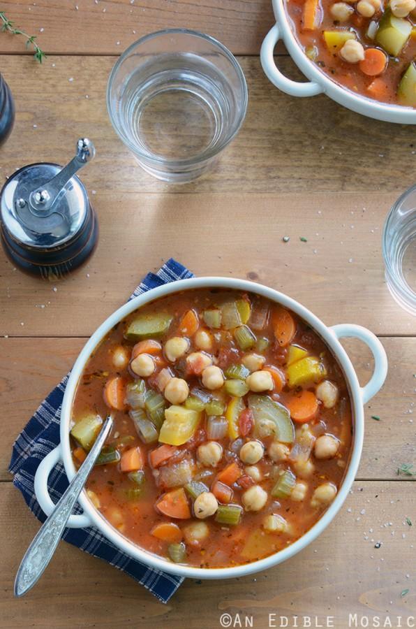 Chickpea Garden Vegetable Soup 2