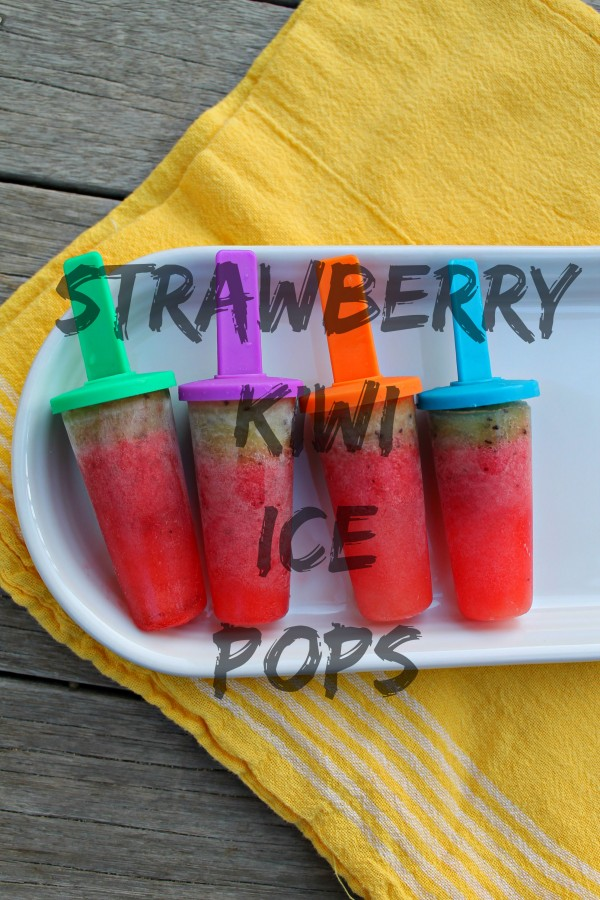 These STRAWBERRY & KIWI ICE POPS have just 4 INGREDIENTS & couldn't be simpler or more delicious. Bonus points - they're healthy too!