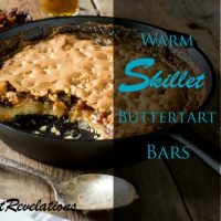 Warm Skillet Buttertart Bars