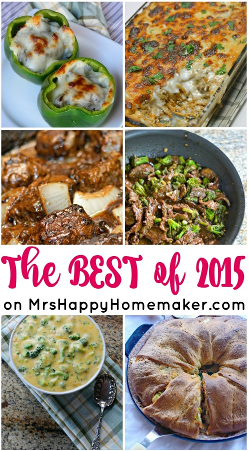 Everything from Philly Cheesesteak Stuffed Peppers to the BEST 3 ingredient anti-aging moisturizer - here are the BEST of 2015 on MrsHappyHomemaker.com! | Mrs Happy Homemaker @thathousewife