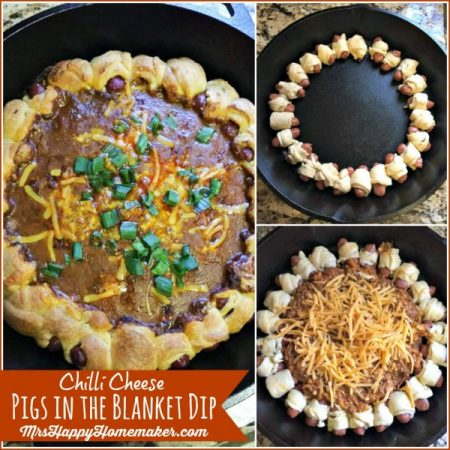 Chili Cheese Pigs in the Blanket Dip