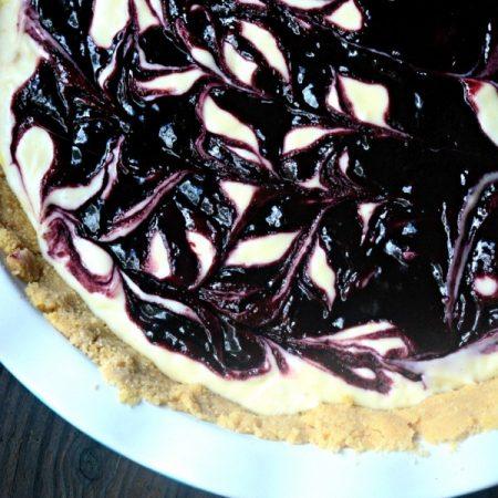 Lemon Blackberry Icebox Cheesecake