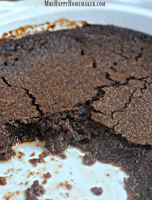 The center is warm, fudgy, rich, & decadent – and the very top ...