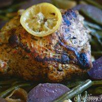 Slowcooker Lemon Garlic Pork & Veggies