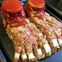Halloween Feetloaf - a meatloaf crafted to look like feet
