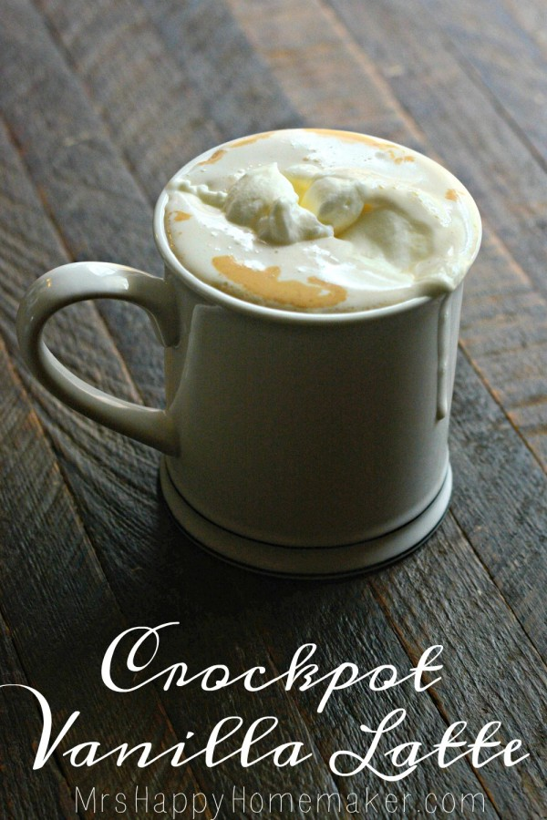 Crockpot Vanilla Lattes - only 3 ingredients needed!