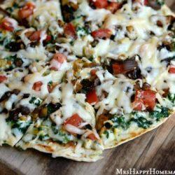 Applebee's Copycat Veggie Patch Pizza