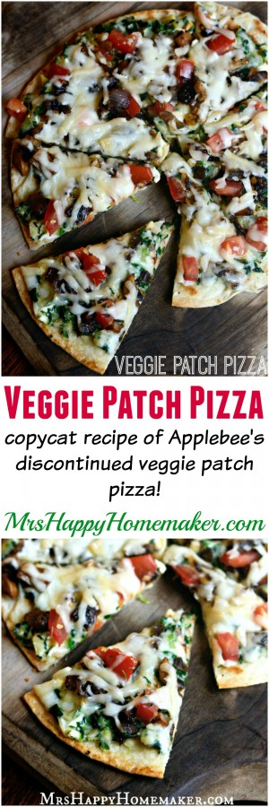 Applebee's Copycat Veggie Patch Pizza recipe - now you can have this discontinued menu item at home