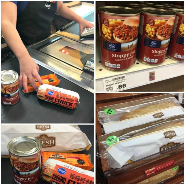 sloppy Joe French bread pizzas ingredients at Kroger