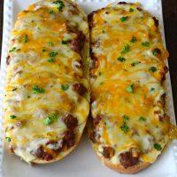 French bread sloppy Joe pizza