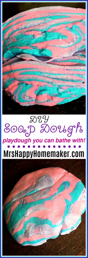 DIY SOAP DOUGH - play dough you can bathe with!! And it's sooo easy!!