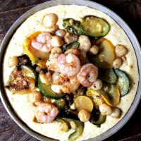 Summer Squash Shrimp and Grits