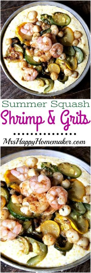 Summer Squash Shrimp and Grits