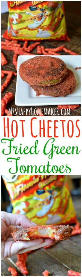 Hot Cheetos Fried Green Tomatoes