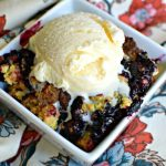 4 Ingredient Blueberry Cobbler