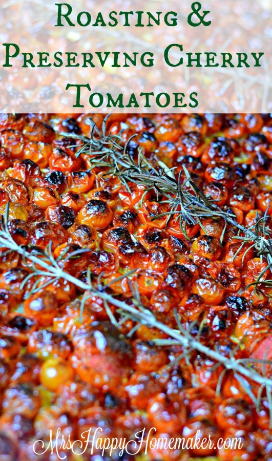 roasted cherry tomatoes with rosemary