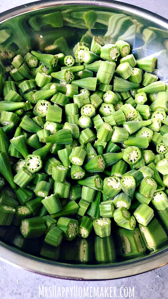 preserving okra - making fried okra for the freezer