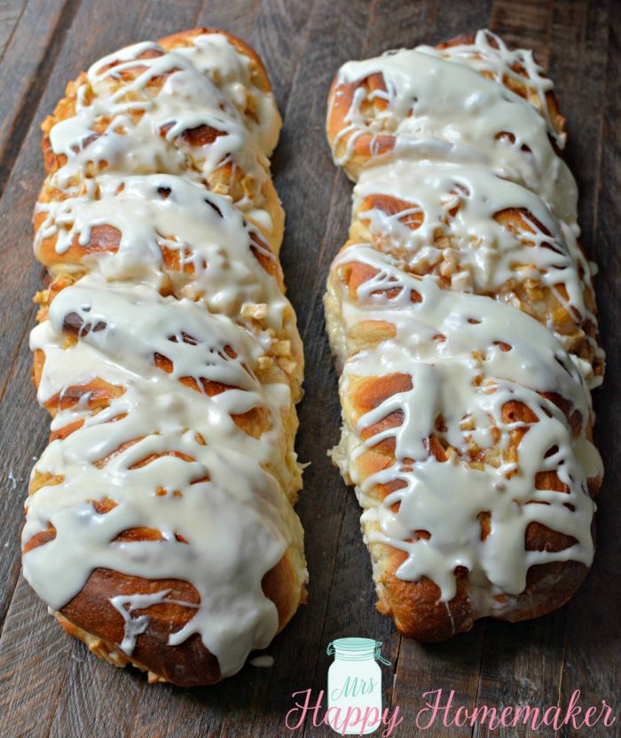 Apple Cinnamon Twisted Danish Bread