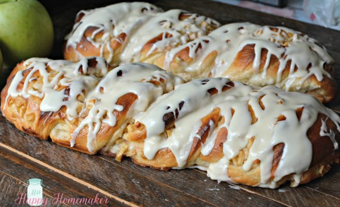 Apple Cinnamon Twisted Danish Bread from scratch!!