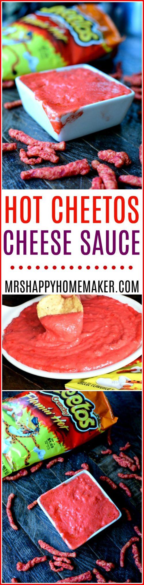 Hot Cheetos cheese sauce