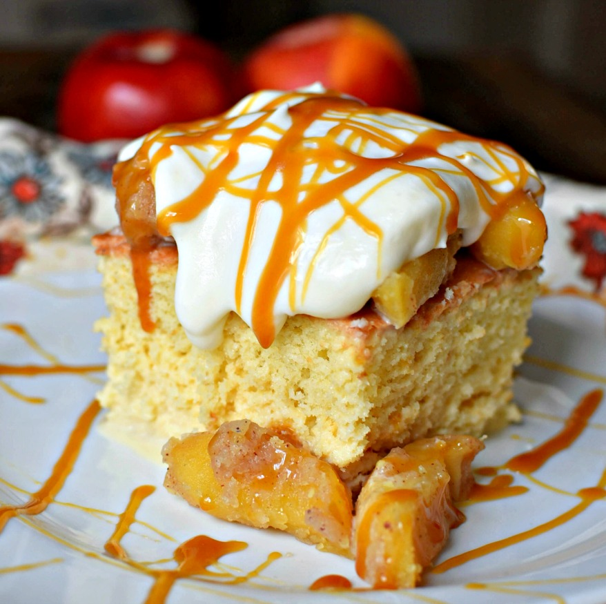 caramel apple tres leches cake