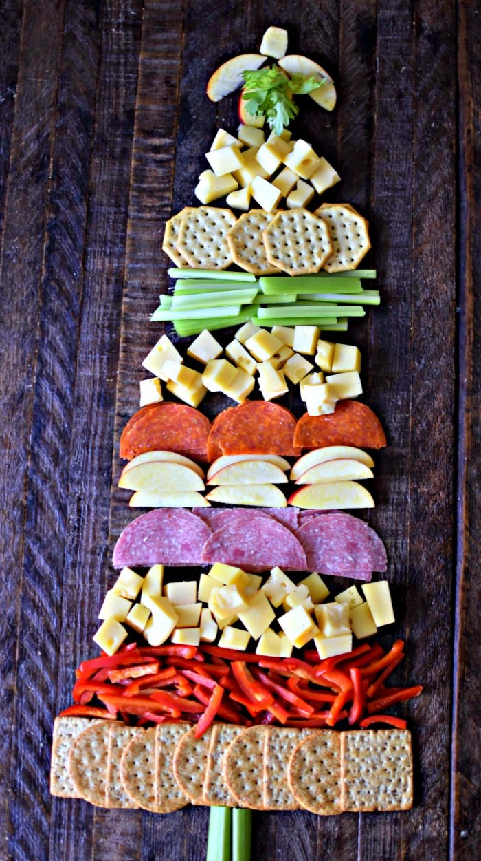 Christmas Tree Cheese Board for the holidays