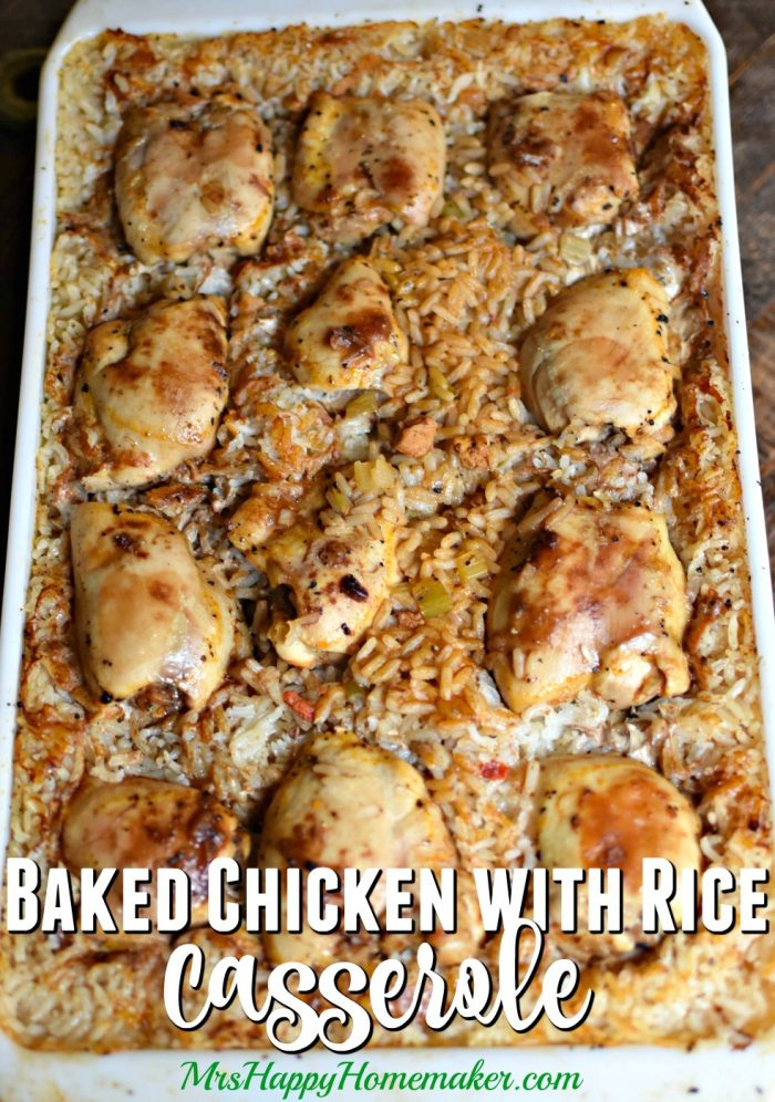 Baked chicken with rice casserole old church cookbook recipe church cookbook of my grandmothers its so simple delicious i think youll like it as much as we do just add a veggie you have a whole meal forumfinder Gallery