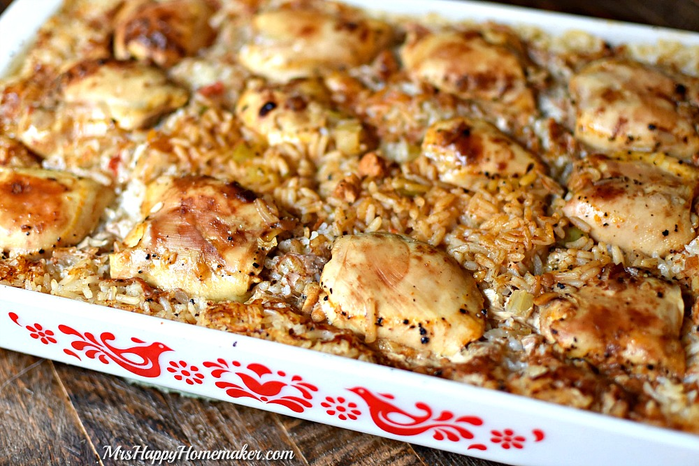 Baked chicken and rice casserole - photo#32
