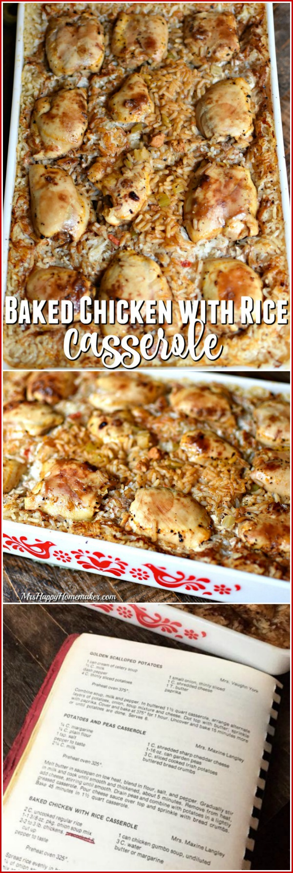 This Baked Chicken with Rice recipe came from an old church cookbook
