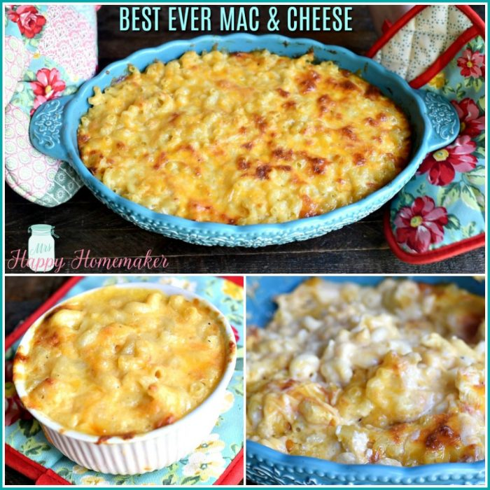 Best Ever Mac and Cheese collage