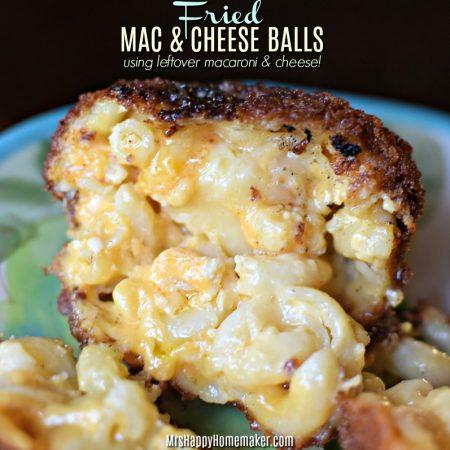 Fried Mac & Cheese Balls using leftover macaroni & cheese