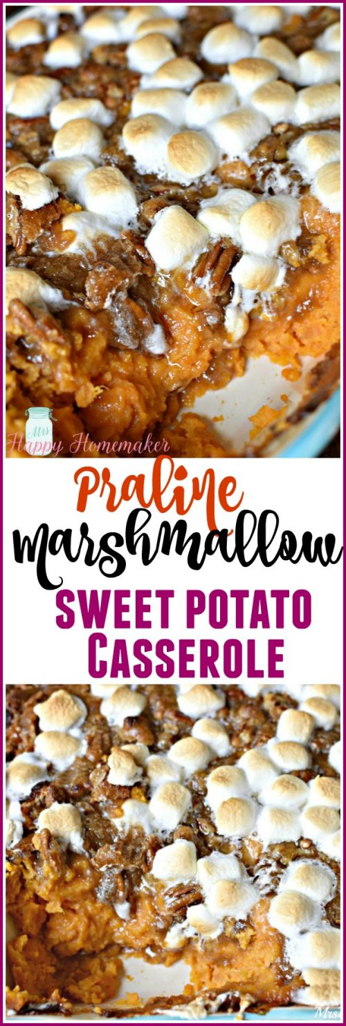 Praline Marshmallow Sweet Potato Casserole - my favorite holiday side dish of all!