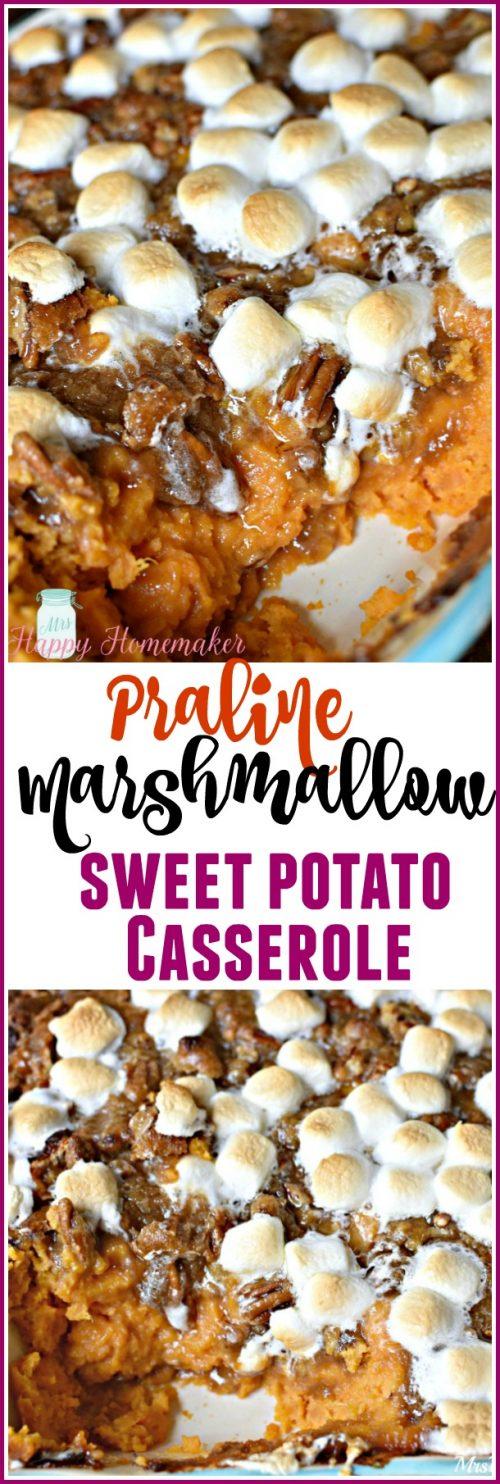 Praline Marshmallow Sweet Potato Casserole - my favorite holiday side dish of all!