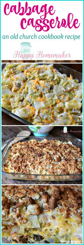 Cabbage Casserole (Old Church Cookbook Recipe)