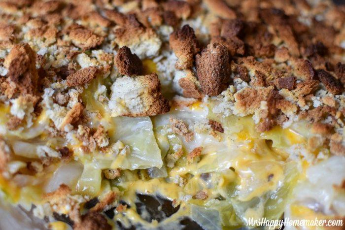 Cabbage Casserole closeup