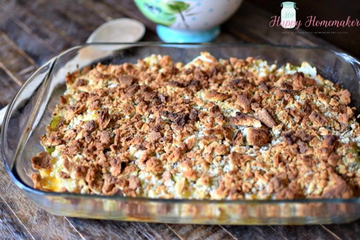 Cabbage Casserole baked in a casserole dish