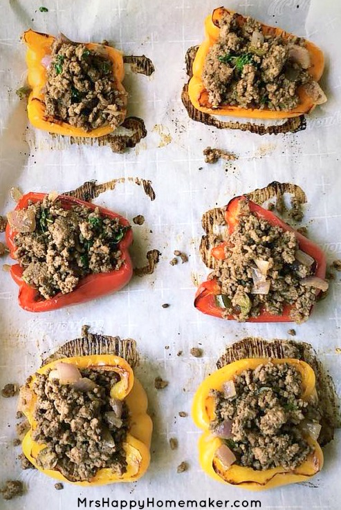 Bell Pepper Tacos - taco stuffed baked bell peppers