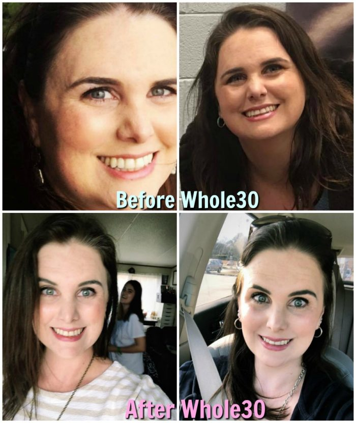 before and after results of mrs happy homemaker from the whole30